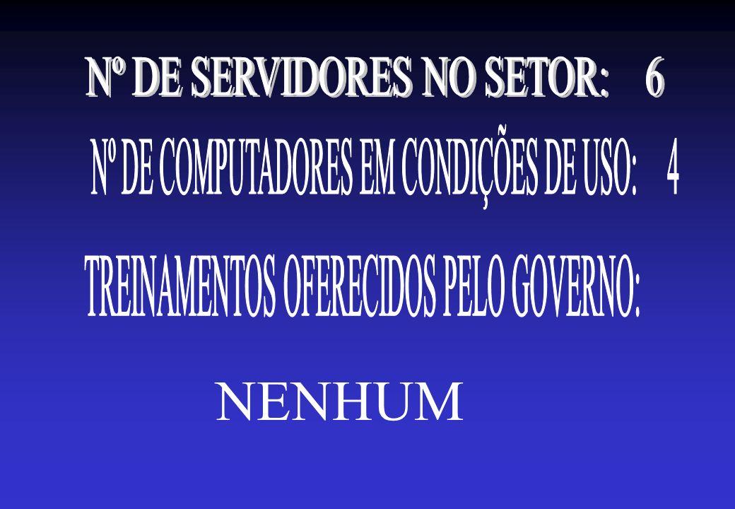 NENHUM Nº DE SERVIDORES NO SETOR: 6