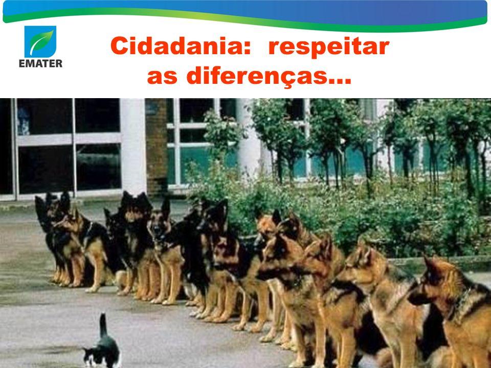 Cidadania: respeitar as diferenças...