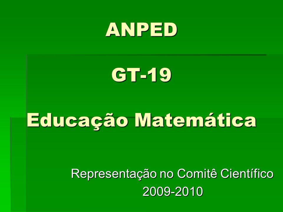 ANPED GT-19 Educação Matemática