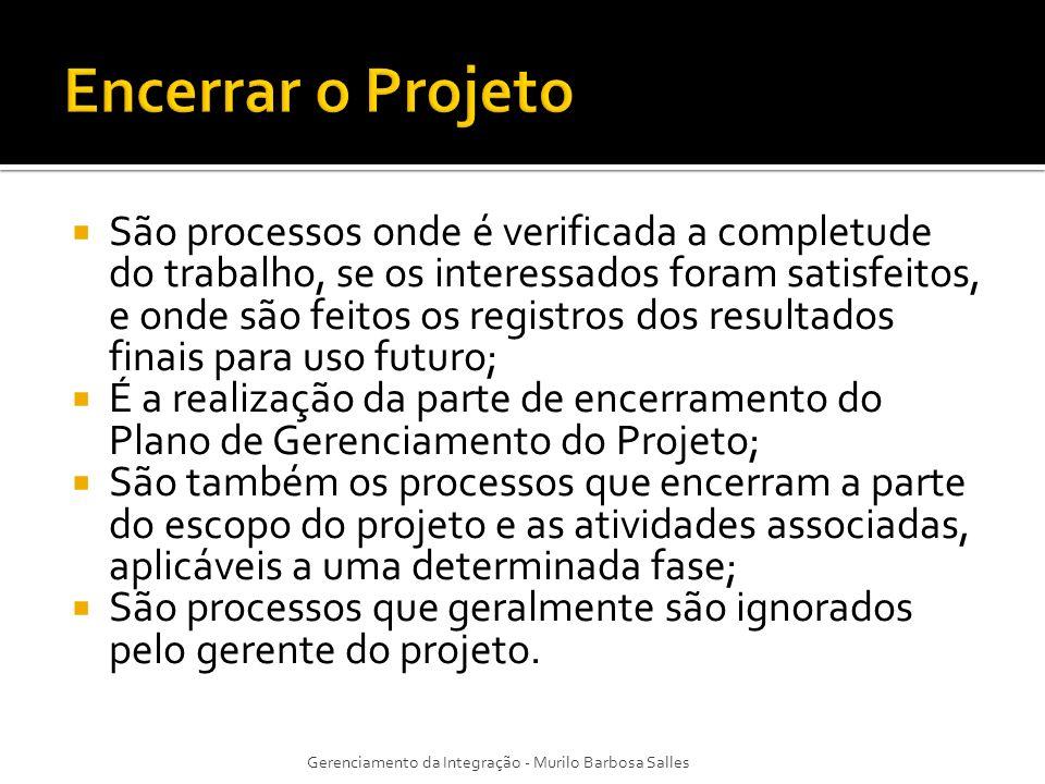 Encerrar o Projeto