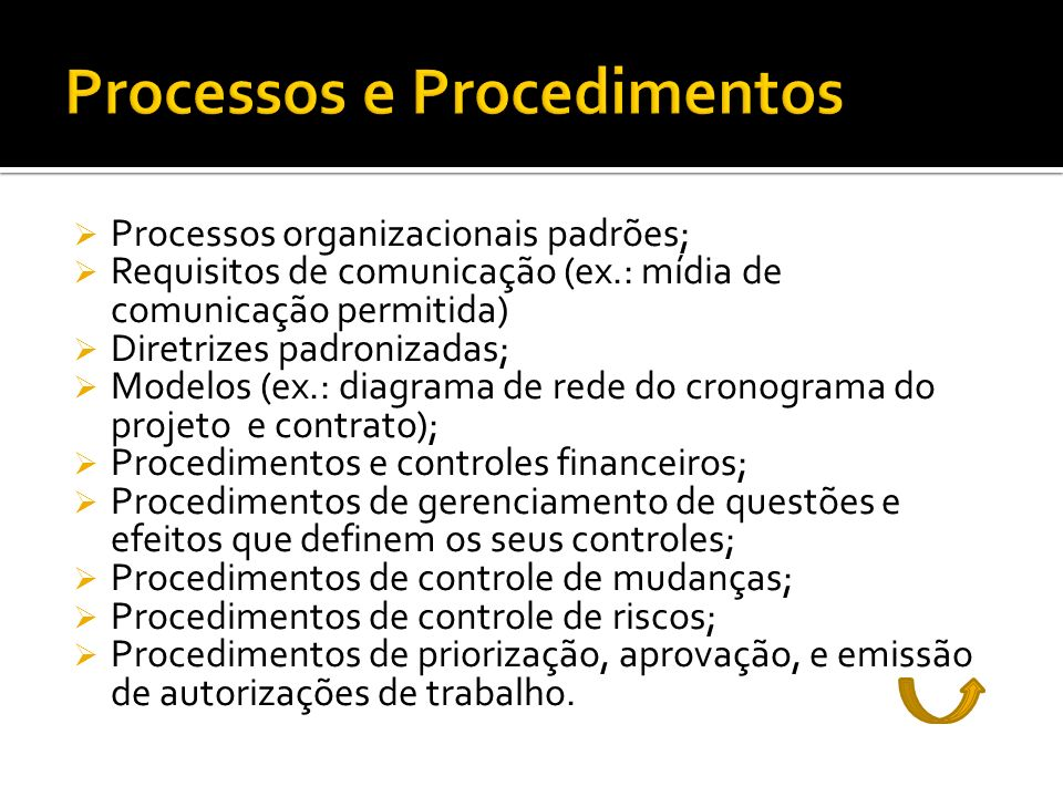 Processos e Procedimentos