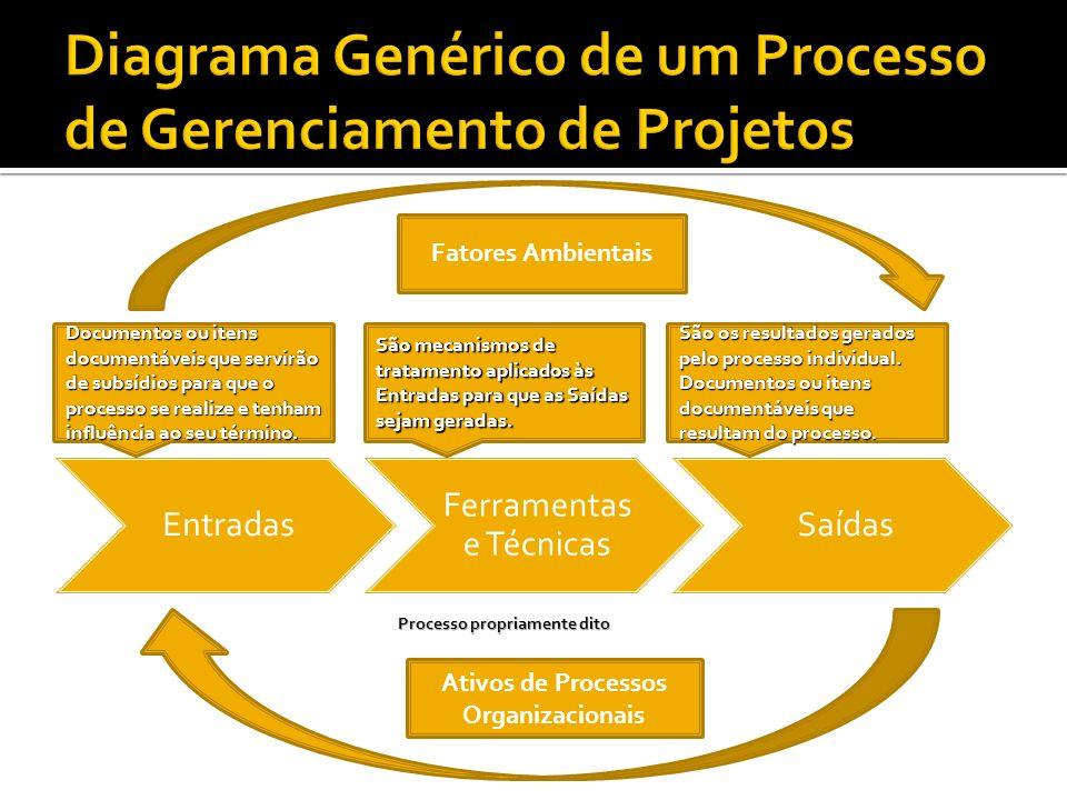 Diagrama Genérico de um Processo de Gerenciamento de Projetos