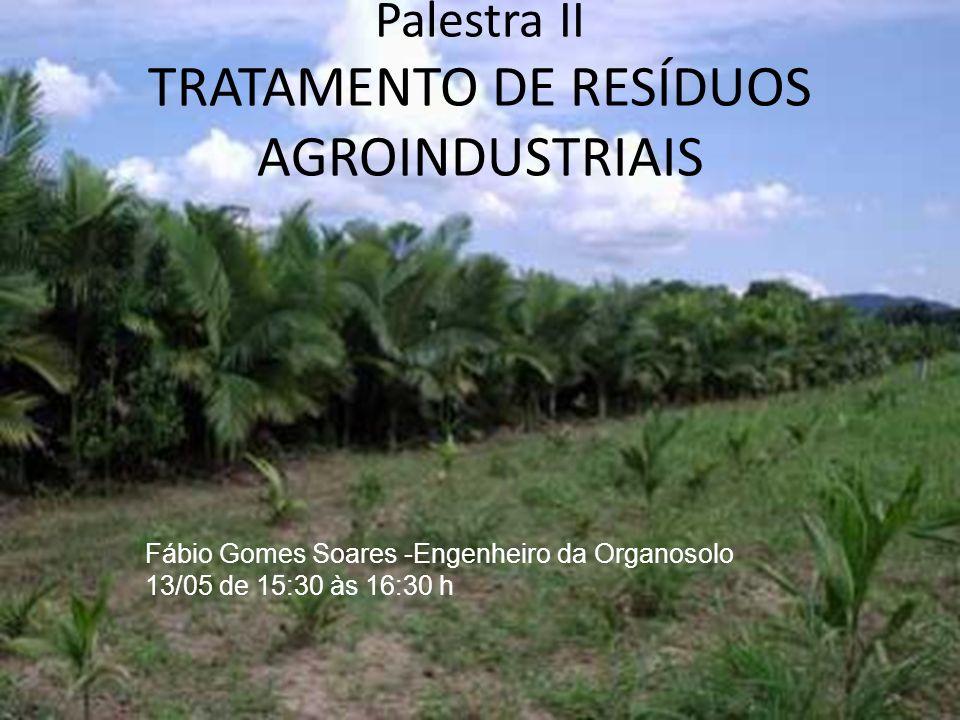 Palestra II TRATAMENTO DE RESÍDUOS AGROINDUSTRIAIS