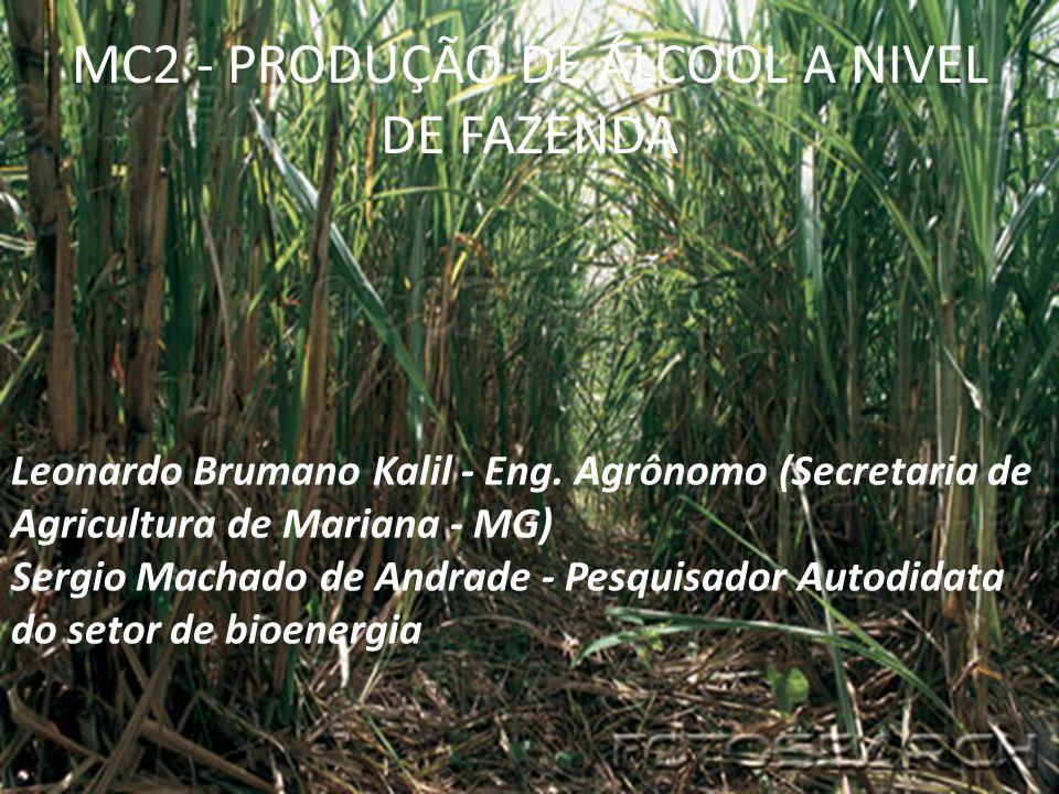 MC2 - PRODUÇÃO DE ÁLCOOL A NIVEL DE FAZENDA