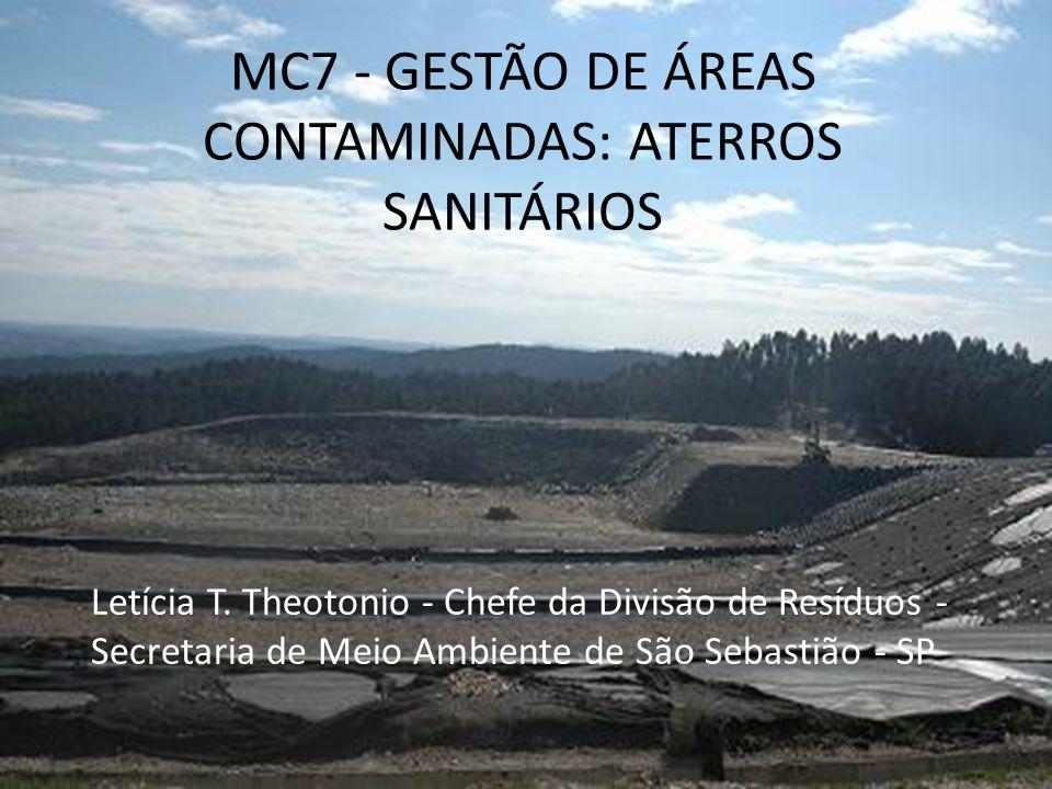 MC7 - GESTÃO DE ÁREAS CONTAMINADAS: ATERROS SANITÁRIOS