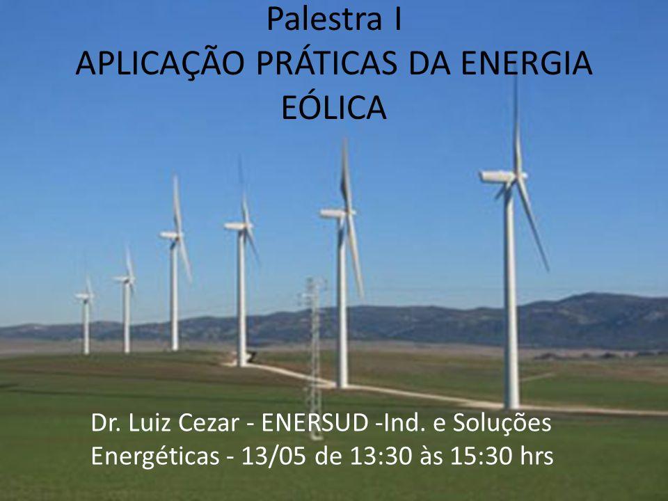 Palestra I APLICAÇÃO PRÁTICAS DA ENERGIA EÓLICA