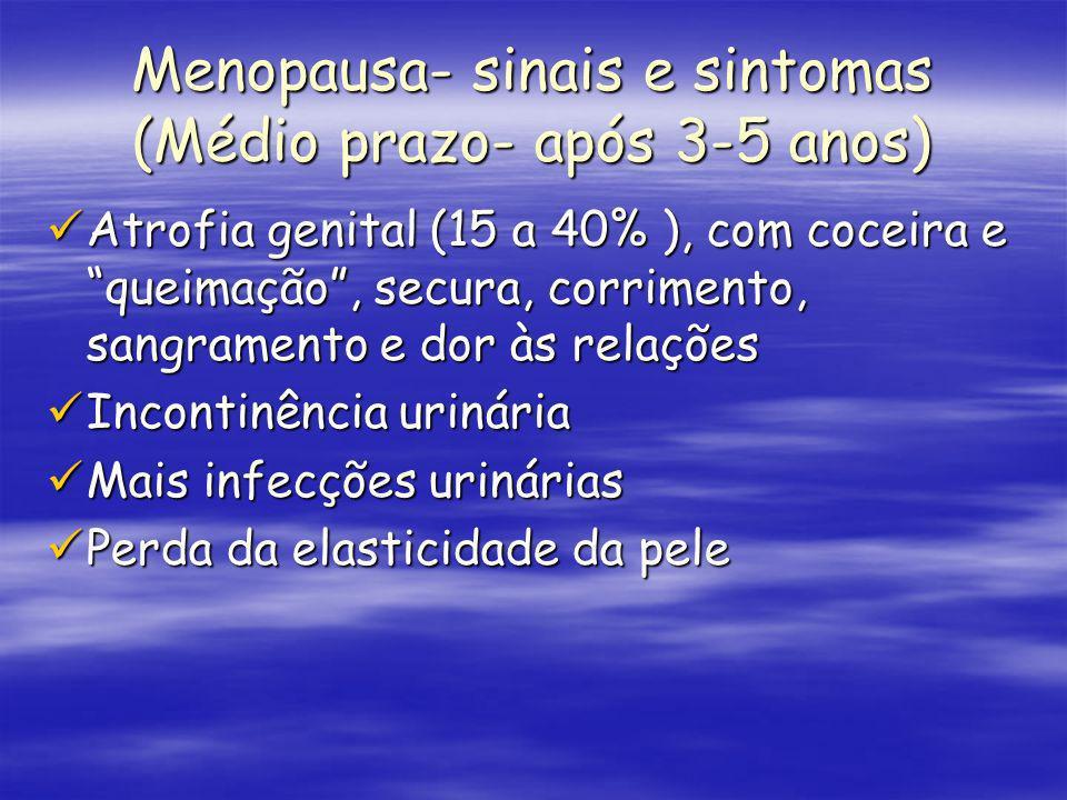 Menopausa- sinais e sintomas (Médio prazo- após 3-5 anos)