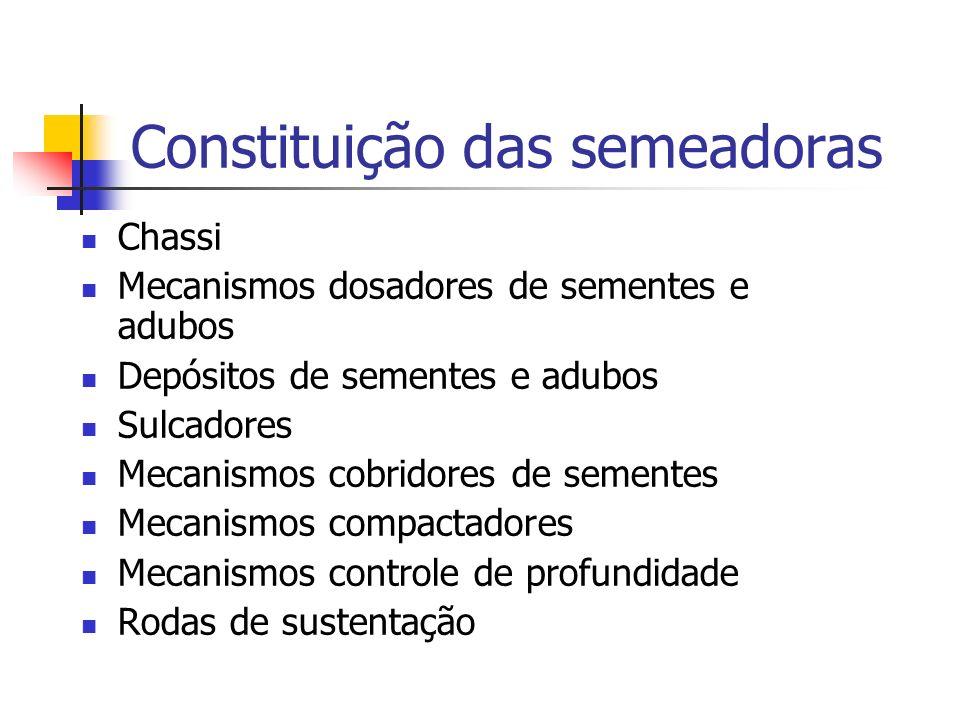 Constituição das semeadoras