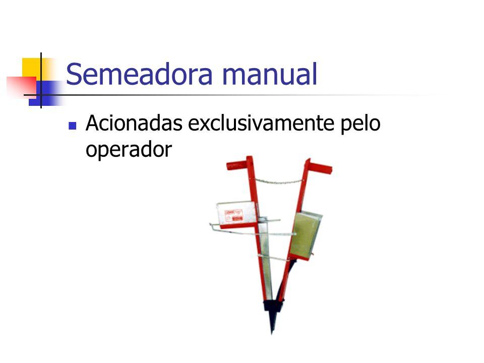 Semeadora manual Acionadas exclusivamente pelo operador