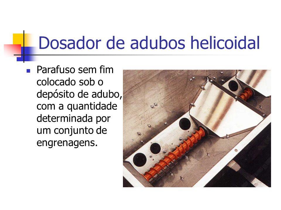 Dosador de adubos helicoidal