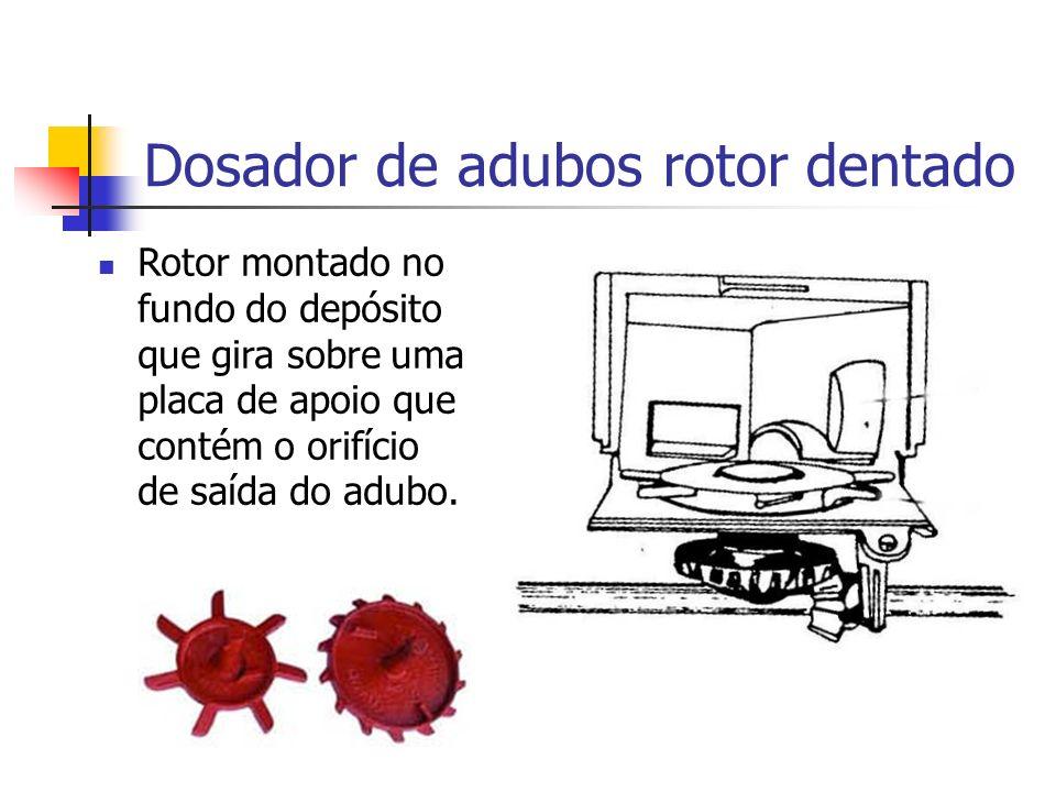 Dosador de adubos rotor dentado