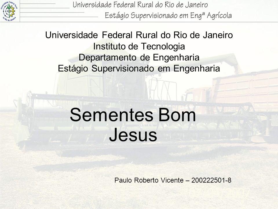 Universidade Federal Rural do Rio de Janeiro Instituto de Tecnologia Departamento de Engenharia Estágio Supervisionado em Engenharia