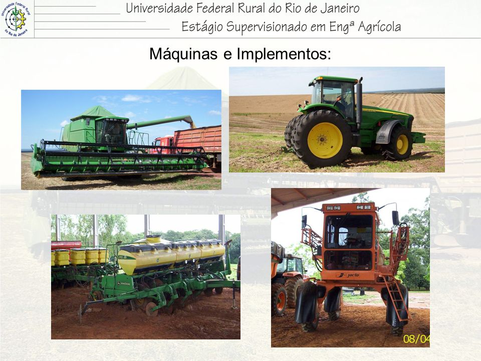 Máquinas e Implementos: