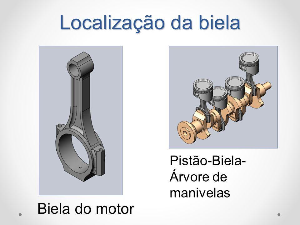Localização da biela Pistão-Biela-Árvore de manivelas Biela do motor