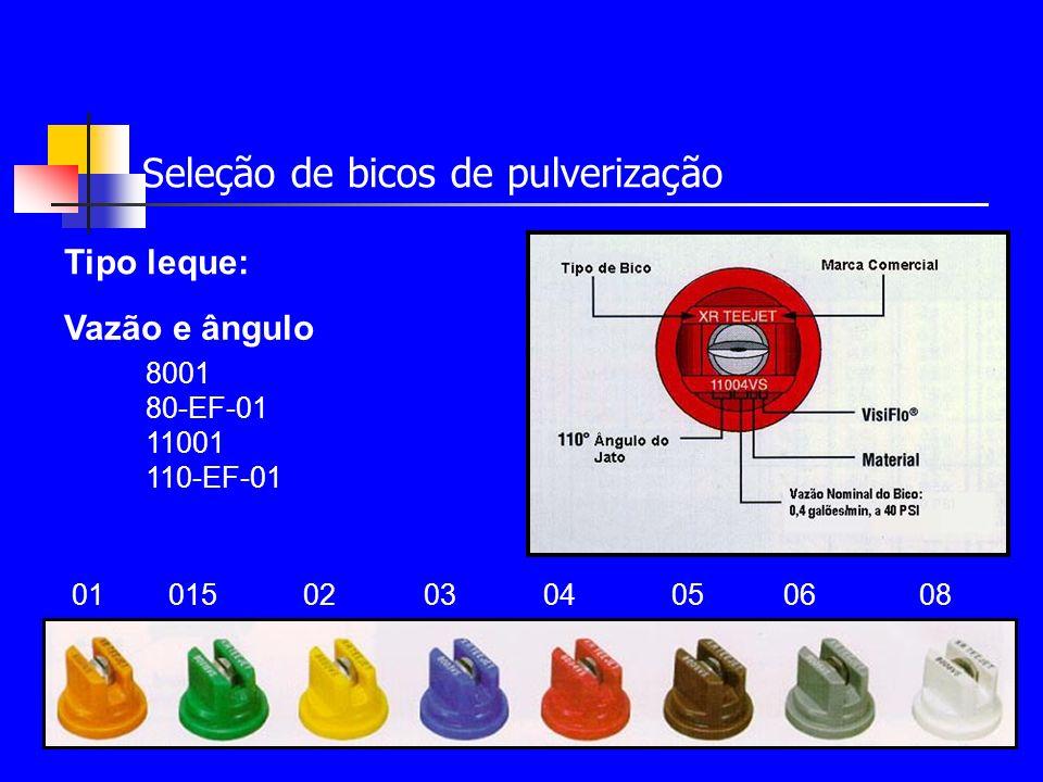 Seleção de bicos de pulverização