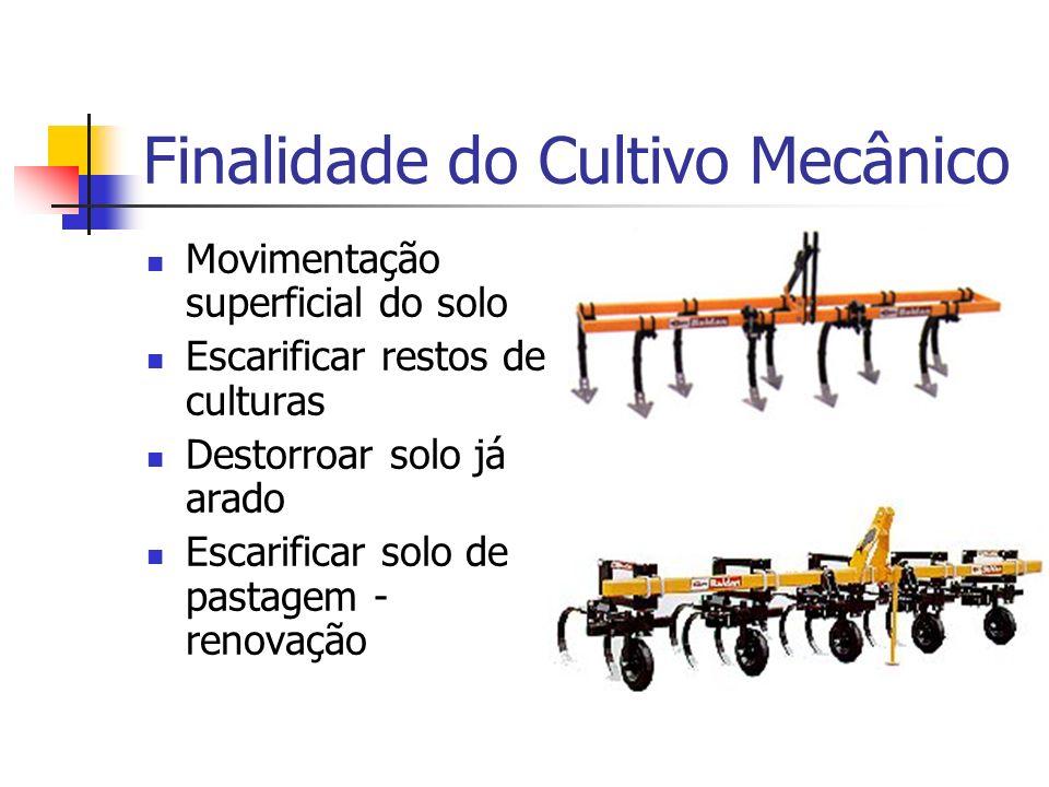 Finalidade do Cultivo Mecânico