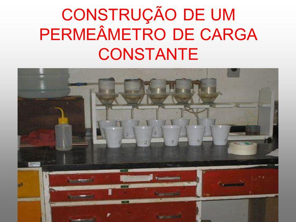 CONSTRUÇÃO DE UM PERMEÂMETRO DE CARGA CONSTANTE
