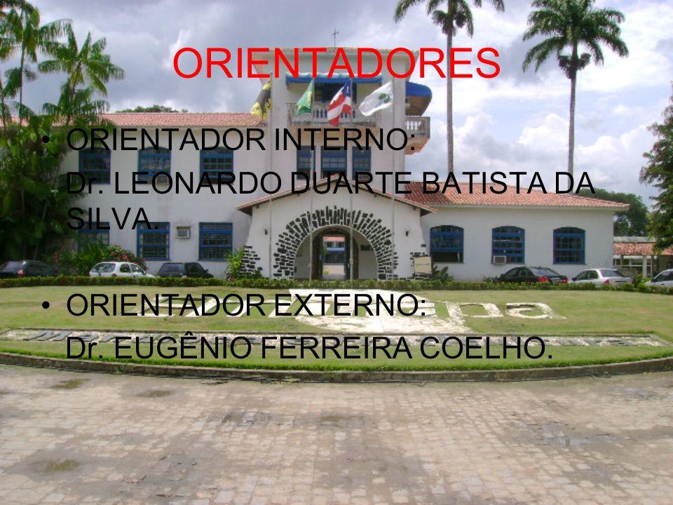 ORIENTADORES ORIENTADOR INTERNO: Dr. LEONARDO DUARTE BATISTA DA SILVA.