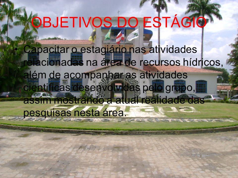 OBJETIVOS DO ESTÁGIO