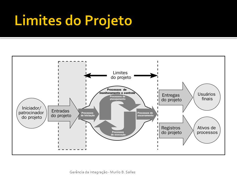 Limites do Projeto Gerência da Integração - Murilo B. Salles