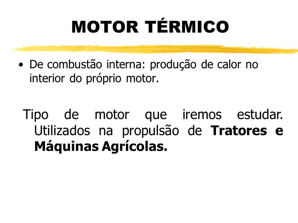 MOTOR TÉRMICO De combustão interna: produção de calor no interior do próprio motor.