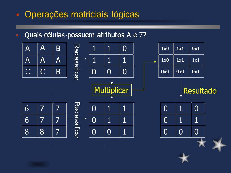 Operações matriciais lógicas