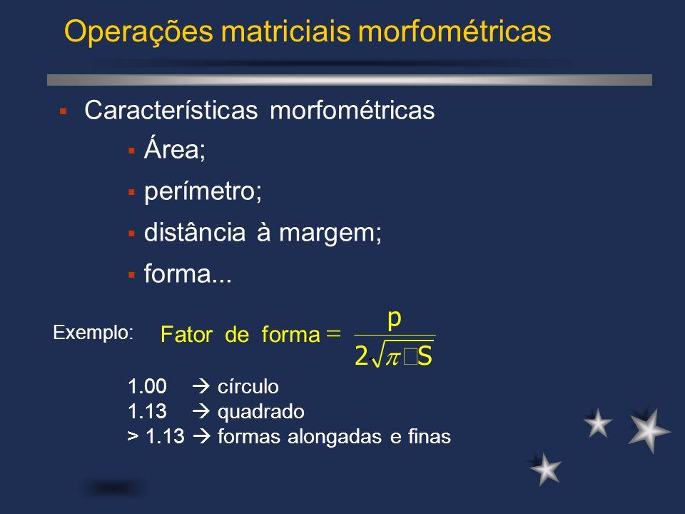 Operações matriciais morfométricas