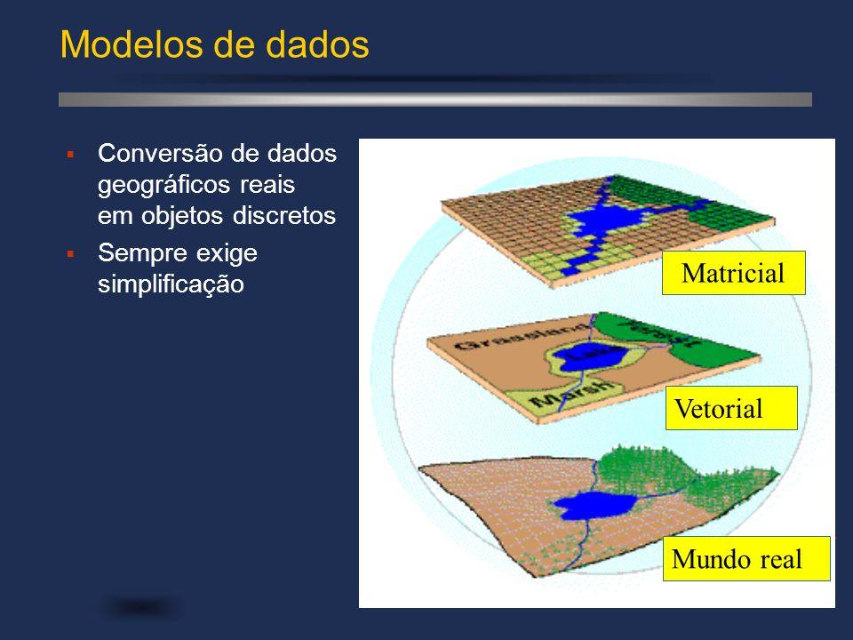 Modelos de dados Matricial Vetorial Mundo real
