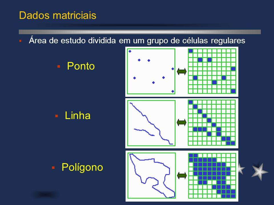 Dados matriciais Ponto Linha Polígono
