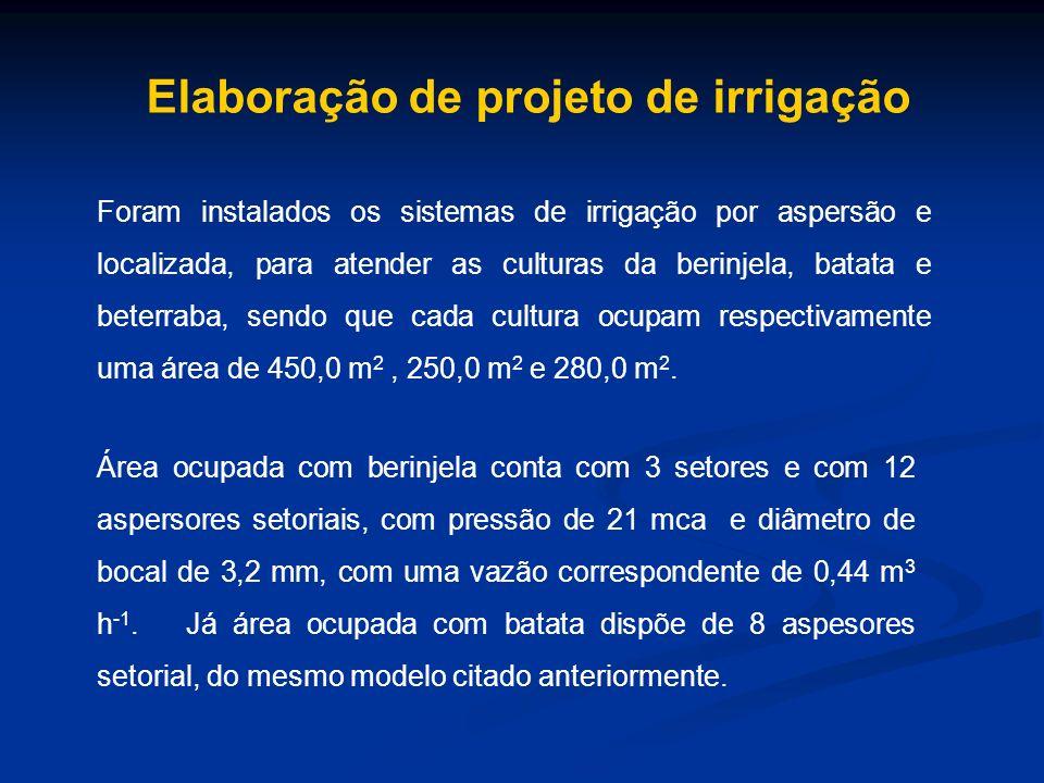 Elaboração de projeto de irrigação