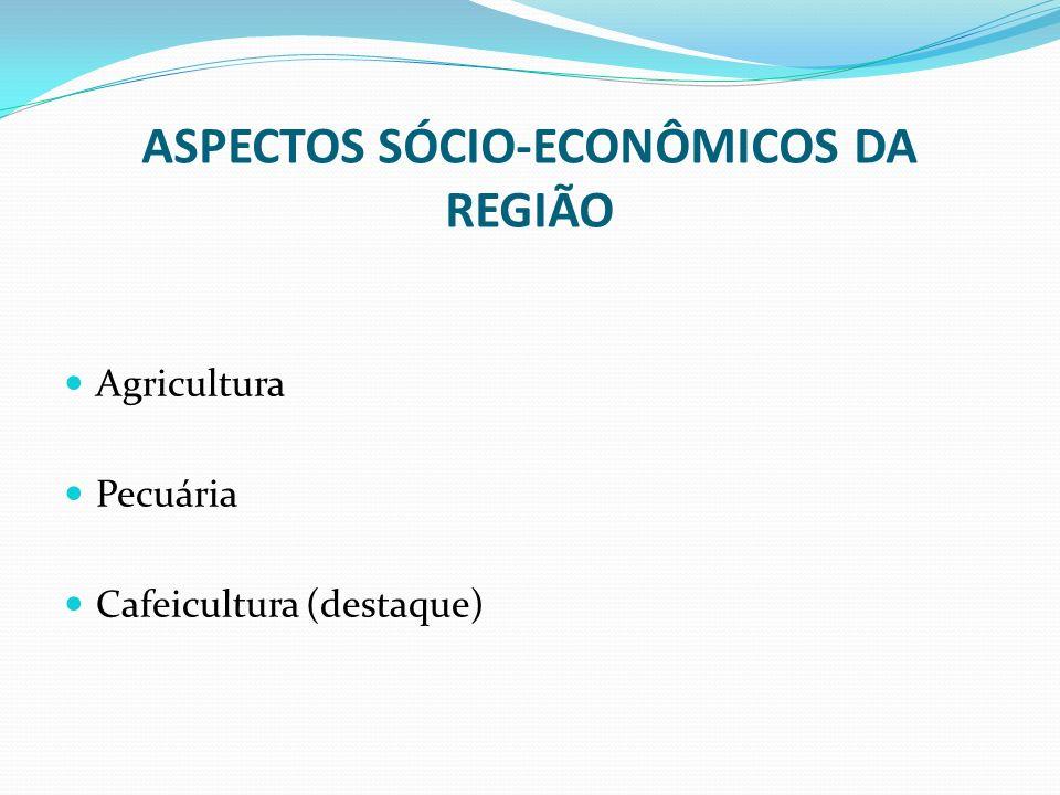 ASPECTOS SÓCIO-ECONÔMICOS DA REGIÃO