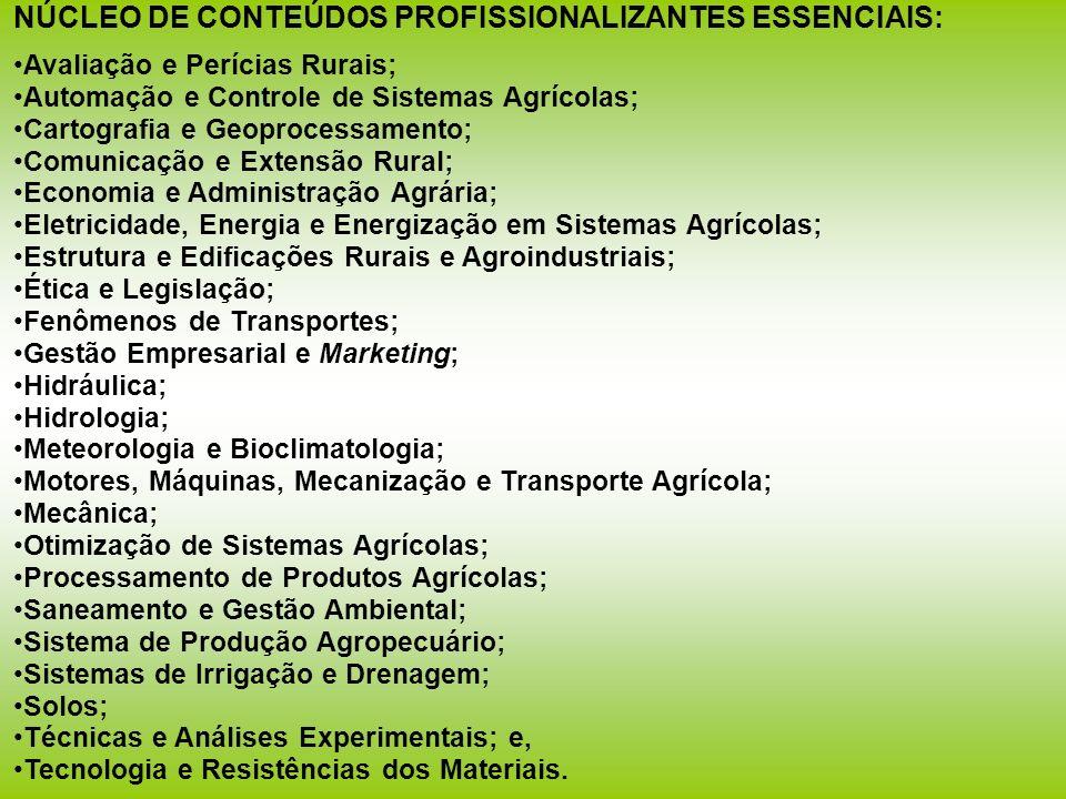 NÚCLEO DE CONTEÚDOS PROFISSIONALIZANTES ESSENCIAIS: