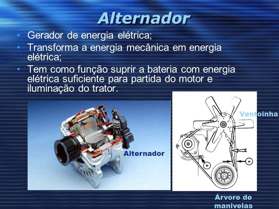 Alternador Gerador de energia elétrica;