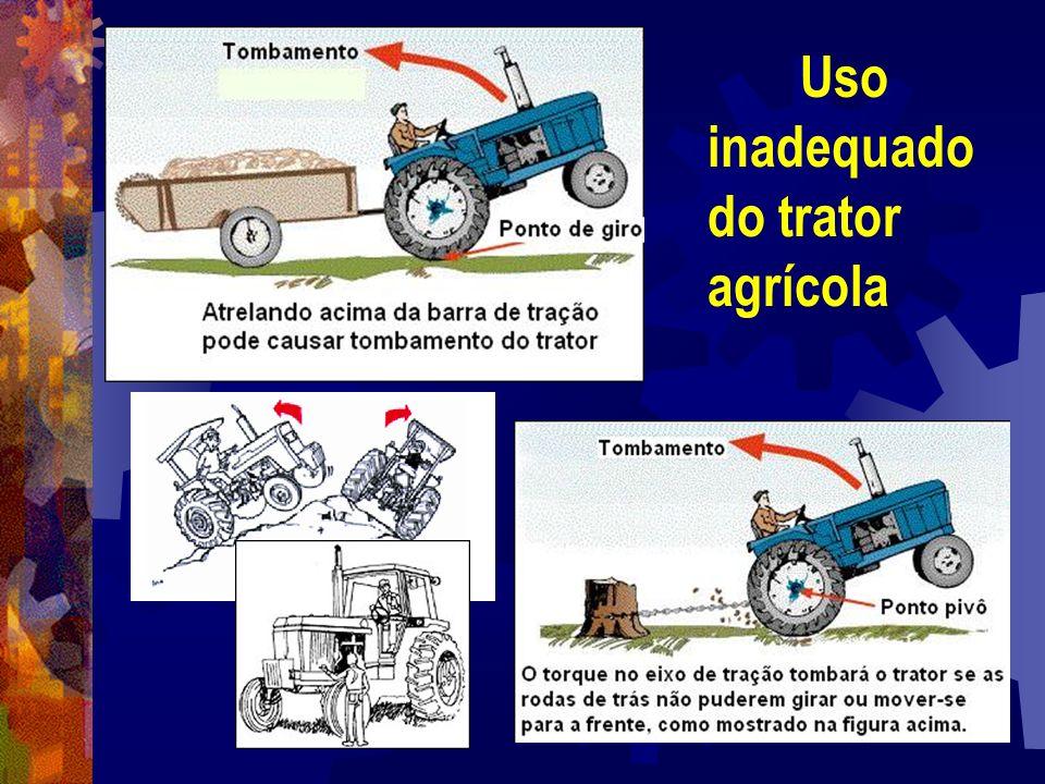 Uso inadequado do trator agrícola