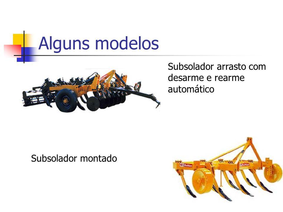 Alguns modelos Subsolador arrasto com desarme e rearme automático