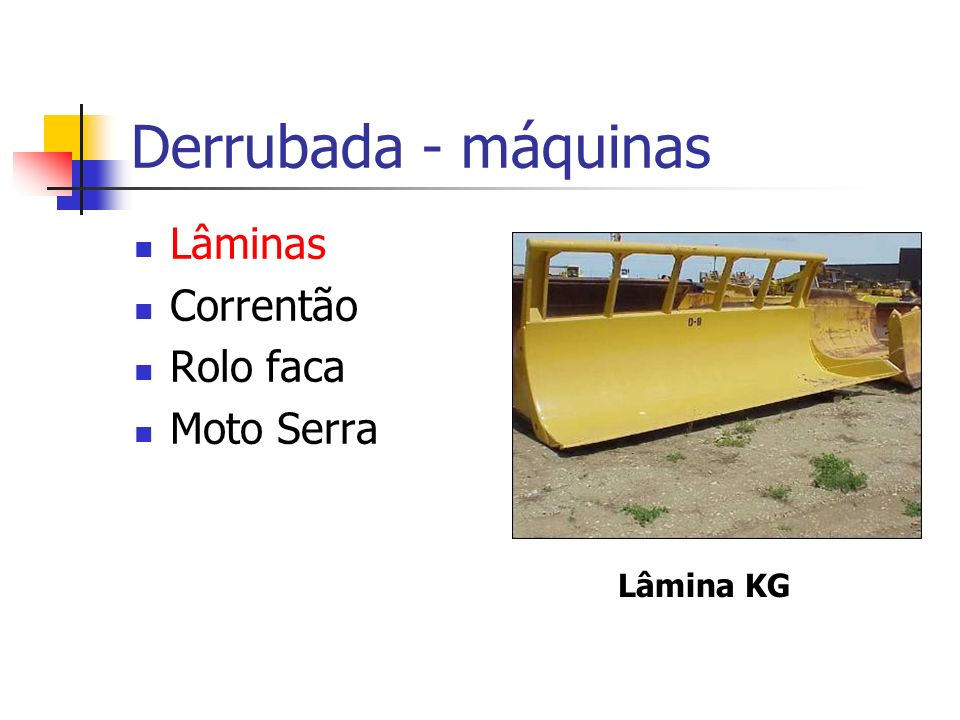 Derrubada - máquinas Lâminas Correntão Rolo faca Moto Serra Lâmina KG