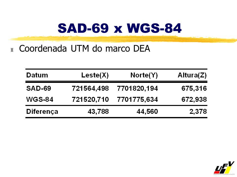 SAD-69 x WGS-84 Coordenada UTM do marco DEA