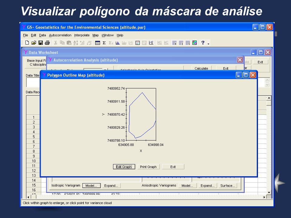 Visualizar polígono da máscara de análise