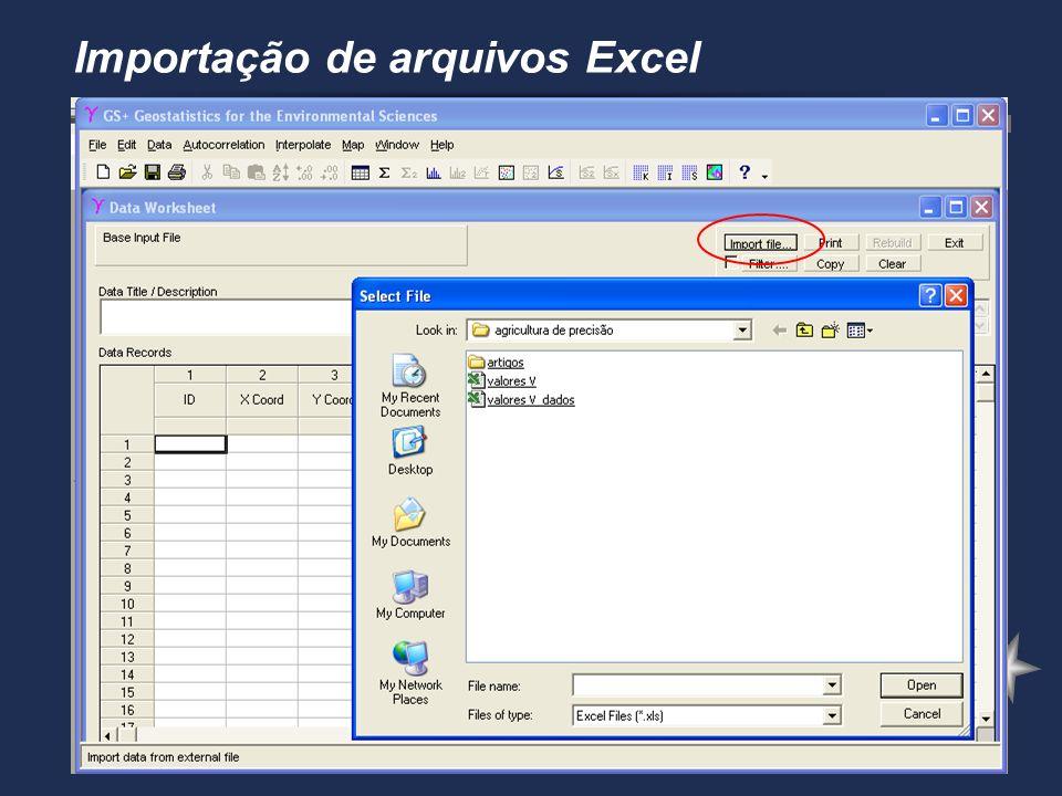 Importação de arquivos Excel