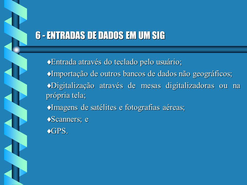 6 - ENTRADAS DE DADOS EM UM SIG