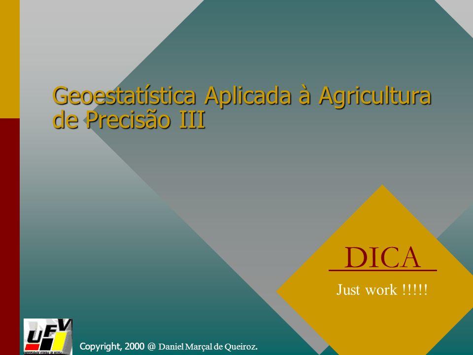 Geoestatística Aplicada à Agricultura de Precisão III