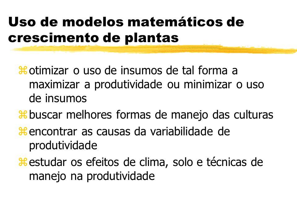 Uso de modelos matemáticos de crescimento de plantas