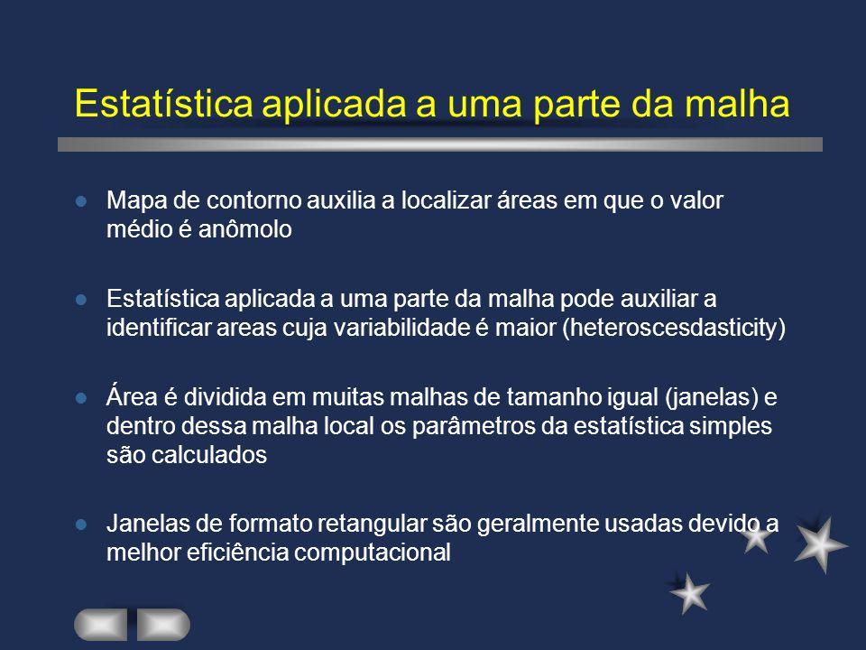 Estatística aplicada a uma parte da malha