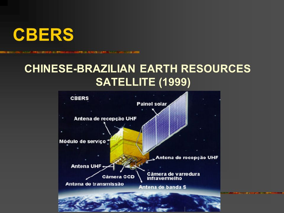 CHINESE-BRAZILIAN EARTH RESOURCES SATELLITE (1999)