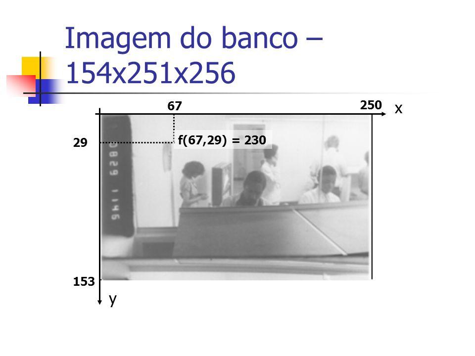 Imagem do banco – 154x251x256 67 250 x 29 f(67,29) = 230 153 y