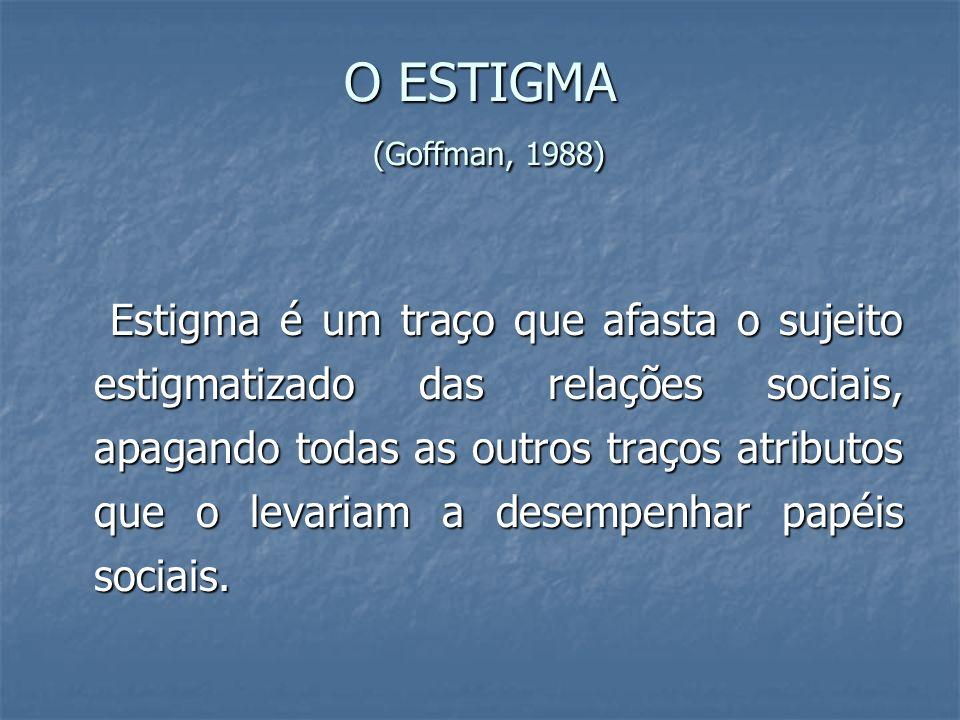 O ESTIGMA (Goffman, 1988)