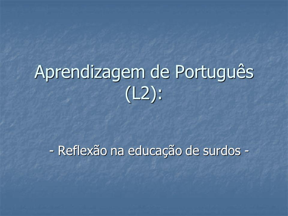 Aprendizagem de Português (L2):