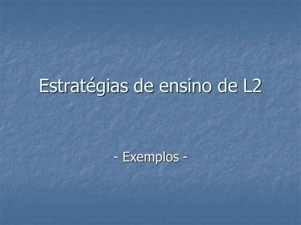 Estratégias de ensino de L2