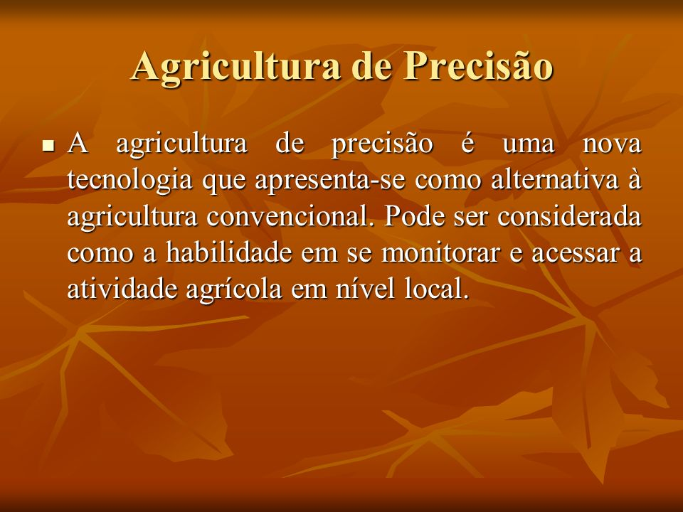 Agricultura de Precisão