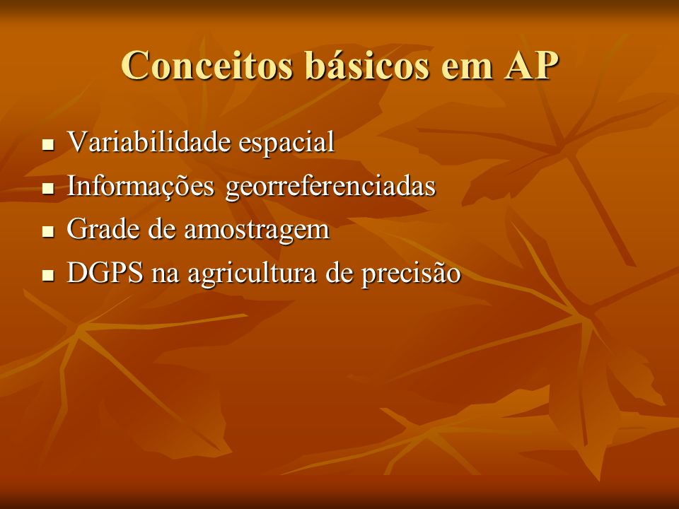 Conceitos básicos em AP
